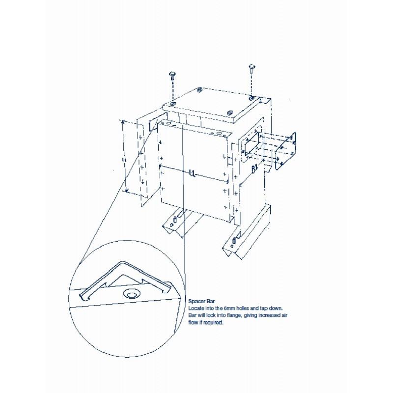 ETAF 1 phase transformer 400V 230V 75VA