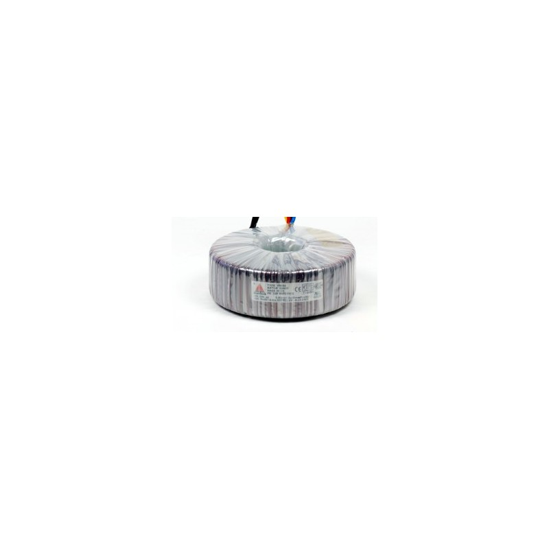 Single phase safety transformer 230V / 24V 100 VA in rubber enclosure