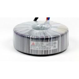 Een fase veiligheidstransformator 230V / 42V 100 VA in rubber kast