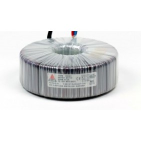 Single phase safety transformer 230V / 24V 200 VA in rubber enclosure