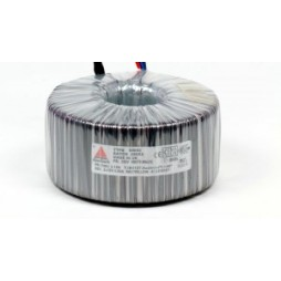 Een fase veiligheidstransformator 230V/24V 400 VA in rubber kast