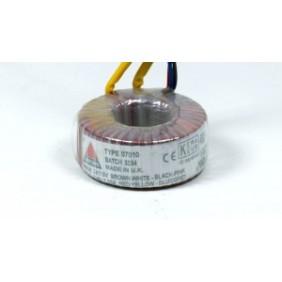 Amplimo toroidal transformer 230V 2x12V 15VA 08012