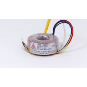 Amplimo toroidal transformer 230V 2x9V 120VA 48011
